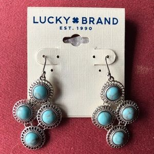 Lucky Brand Turquoise earrings - new with tags